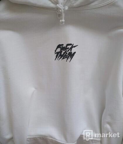 fck them White hoodie