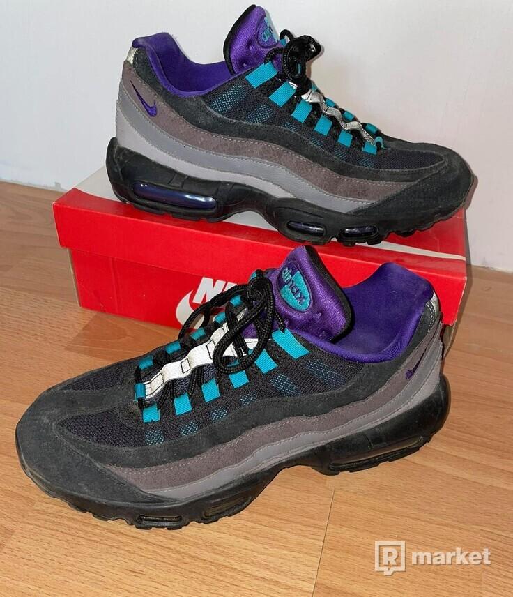 Nike Air Max 95 Black Court Purple Teal Nebula