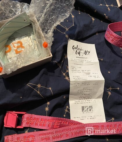 Off white belt pink mini