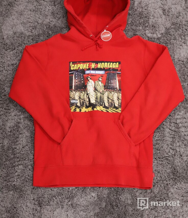 Supreme The War Report Hoodie Red