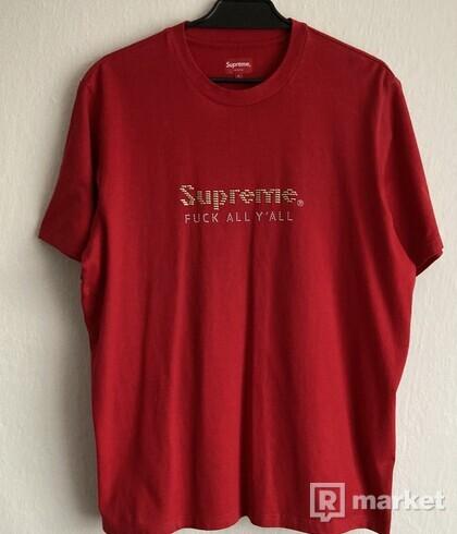 Supreme Gold Bars Tee Red