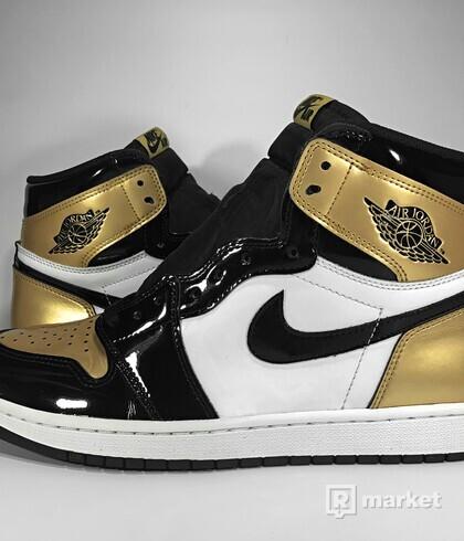 "Air Jordan Retro 1 High OG ""Gold Toe"""