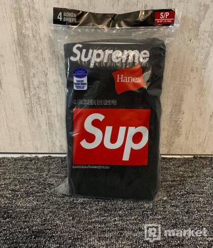 Supreme Hanes Boxers Black (S)