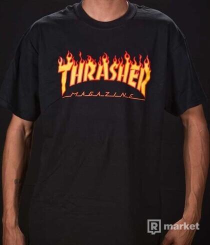 THRASHER MAGAZINE FLAME LOGO Tricko