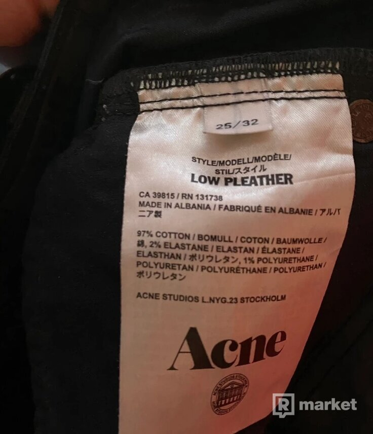 Acne Studios Jeans Low Pleather