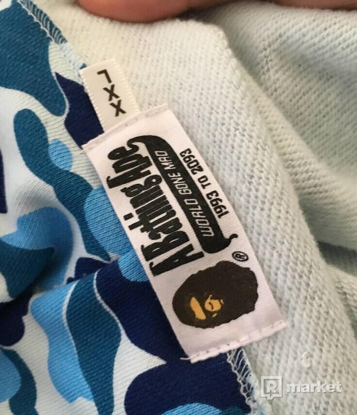 Bape ABC Shark hoodie blue camo