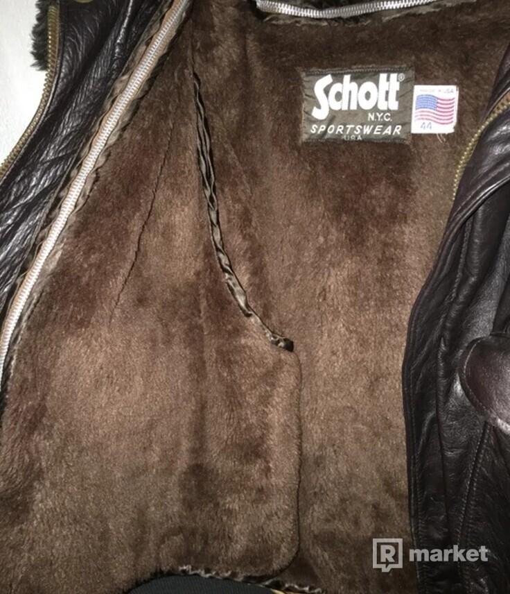 Schott Sherpa Bomber Jacket