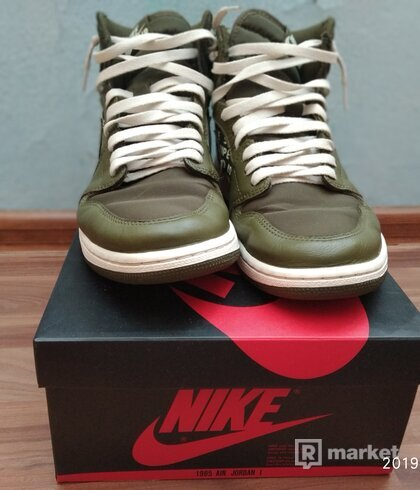 Nike Air Jordan Olive Canvas