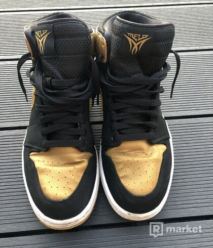 Nike Air Jordan Retro 1 I High MELO Black Gold OG