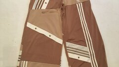 adidas Originals X Danielle Cathari Deconstructed Track Pants In Beige Khaki 38