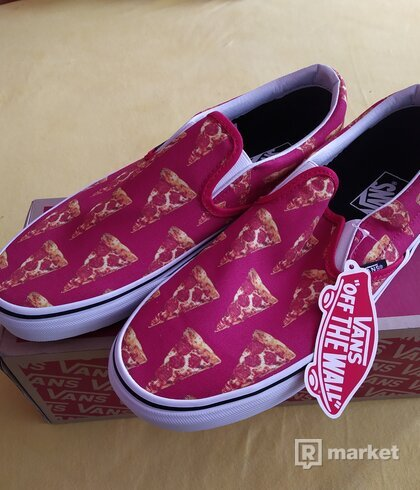 Vans slip on Mars Red Pizza 42-eu