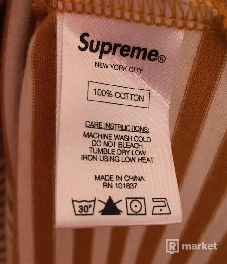Supreme Box Logo Striped Long Sleeve