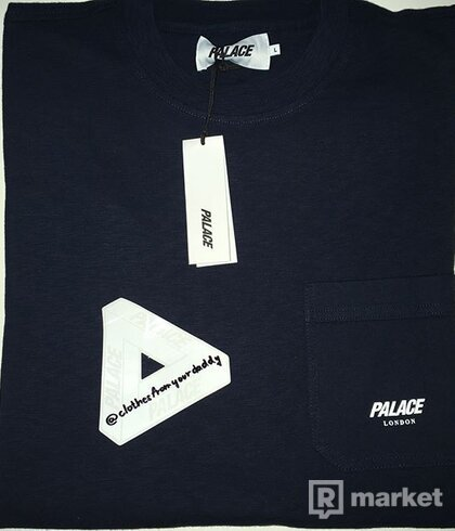 Palace Slub Pocket Longsleeve | Navy