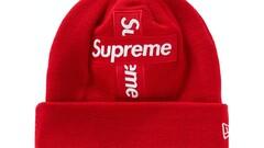 "Supreme x New Era - Cross Box logo Beanie (čepice) - ""Red"""