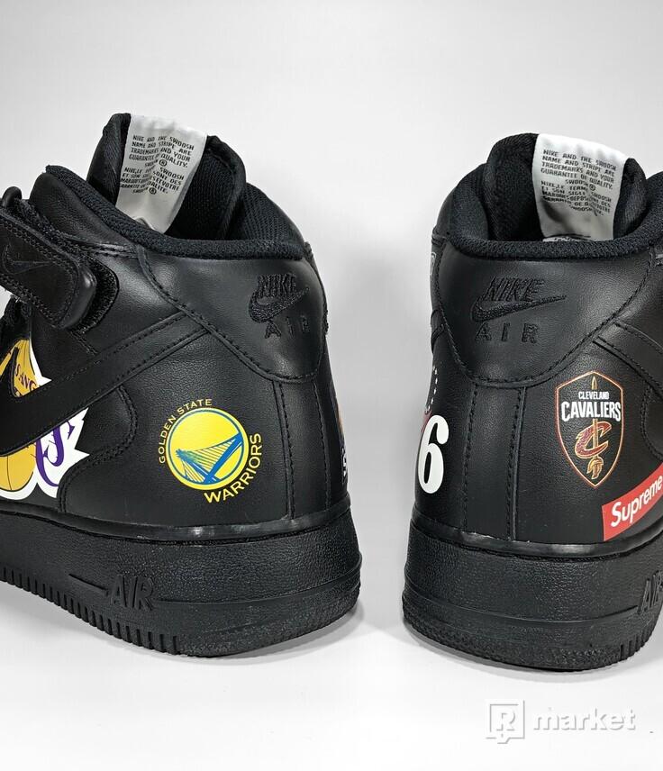 Nike Air Force 1 Mid '07 x Supreme (Black)