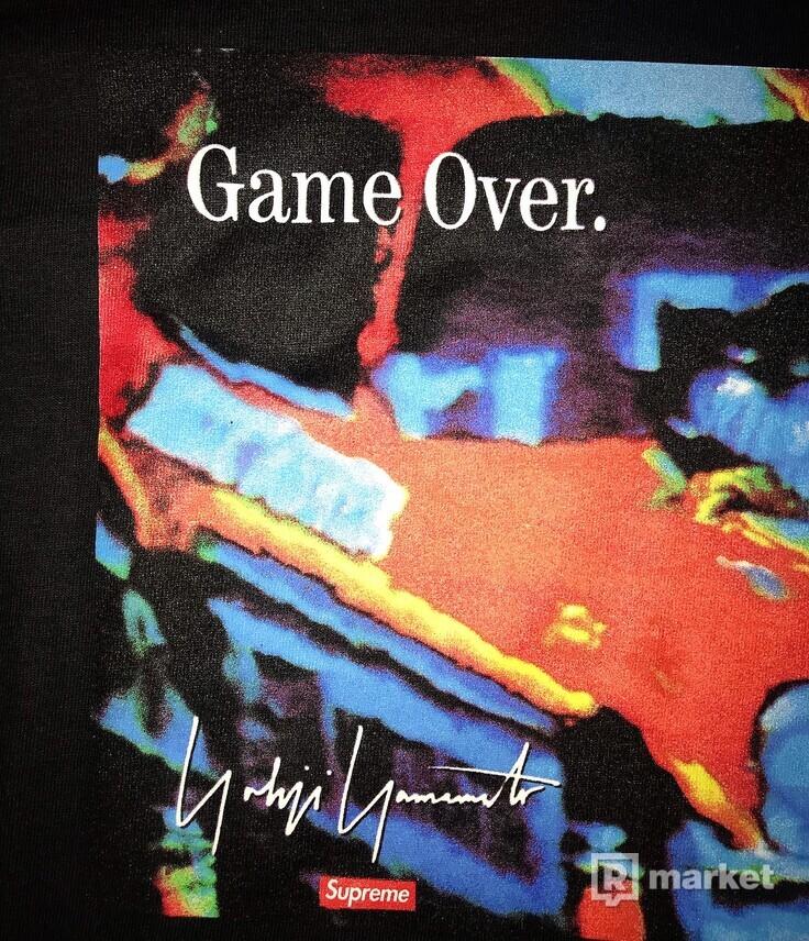 Supreme x Yohji Yamamoto Game Over Tee