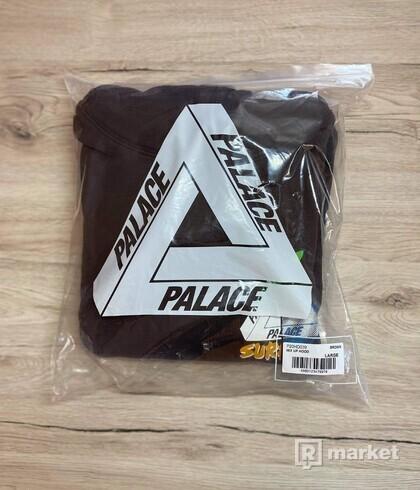 PALACE MIX UP HOOD BROWN