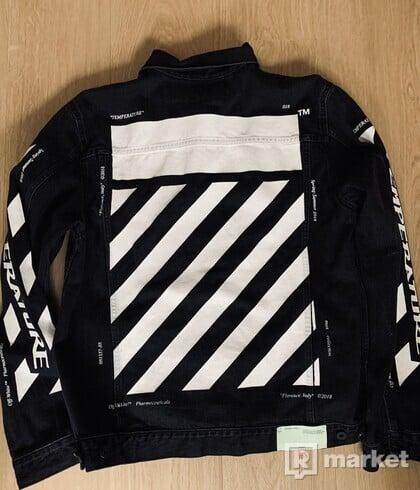Off-White SSENSE Exclusive Black Denim Temperature Jacket