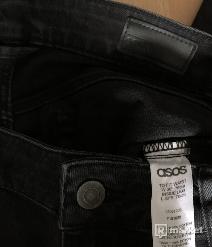 """ASOS rifle v. 30/30 biker s """"koženými"""" kolenami"""