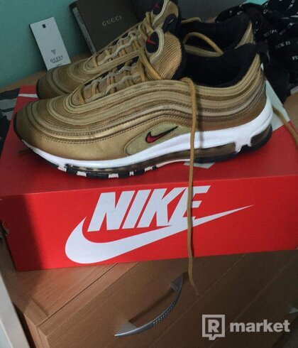 Nike Airmax 97 metallic gold