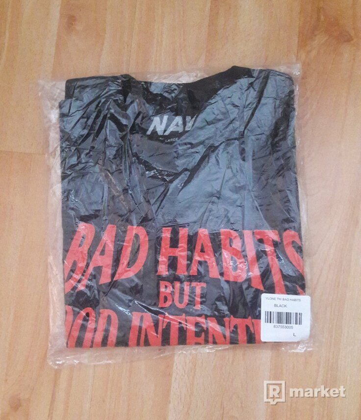 VLONE X NAV BAD HABITS GOOD INTENTIONS TEE