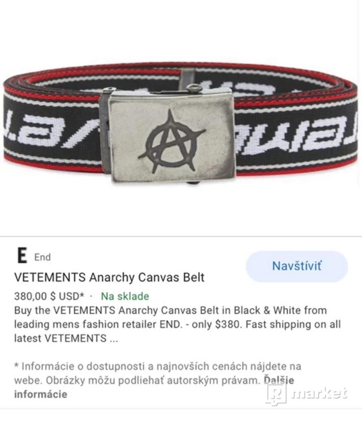 Vetements SAMPLE Anarchy Georgian Sun Belt