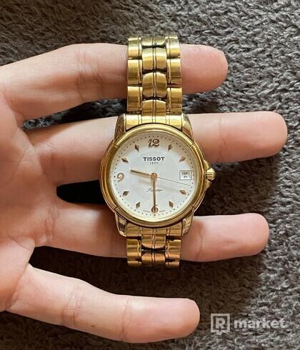 pánske pozlátené hodinky TISSOT