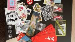 supreme nálepky/stickers/doplnky