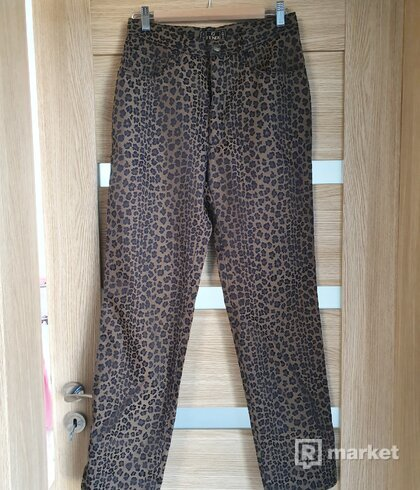 Fendi vintage leopard pants
