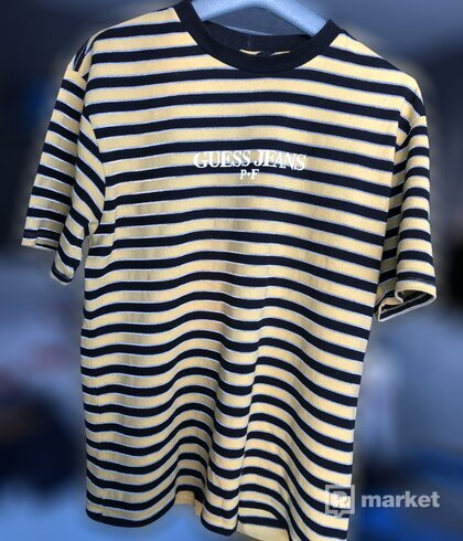 GUESS Jeans x Places + Faces Reflective Logo Stripe Tee