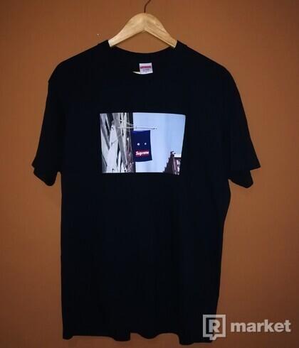 Supreme Banner tee (black)