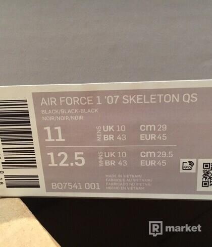 Nike AF1 Skeleton US 11