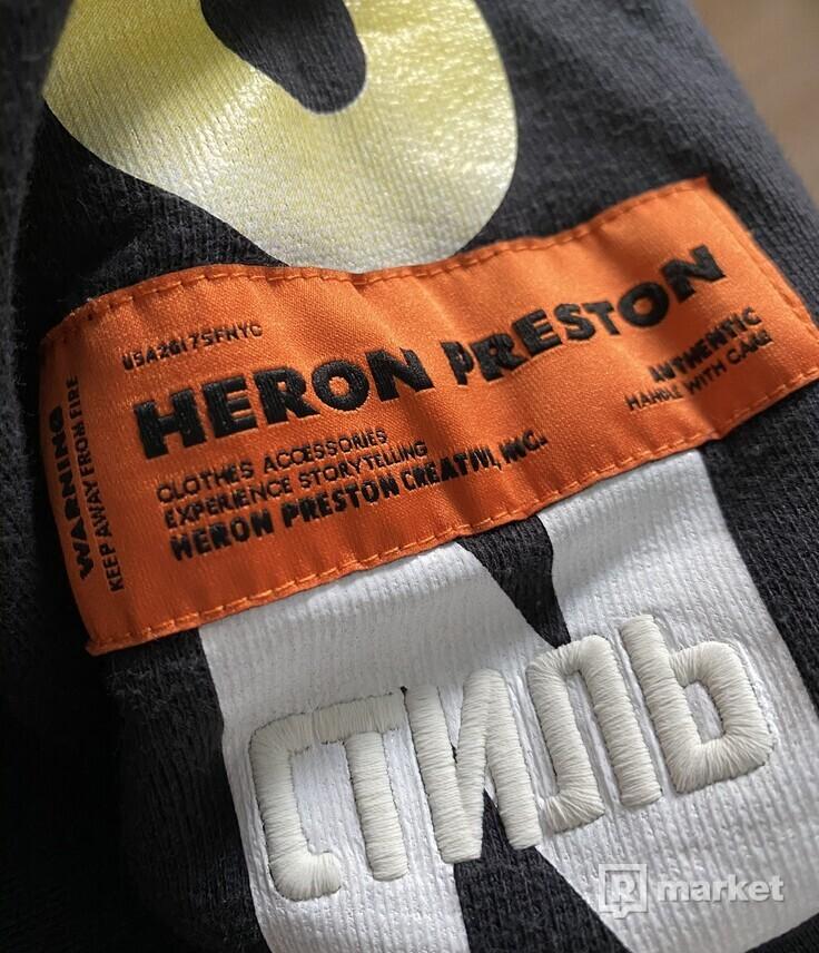 Heron Preston Flaming Skull Hoodie