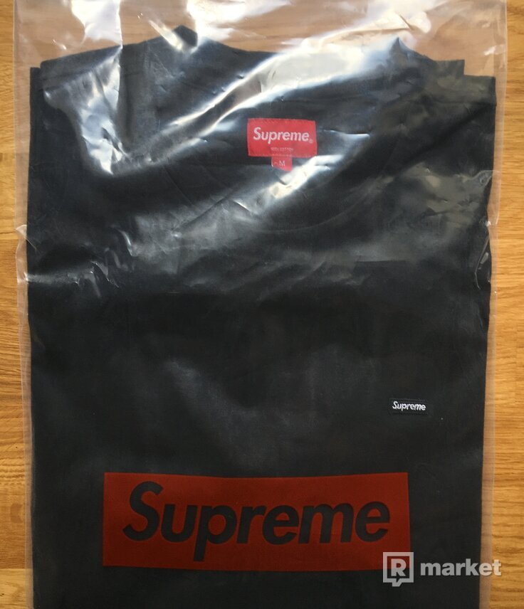 Supreme Small Box L/S Tee Black, veľ. M