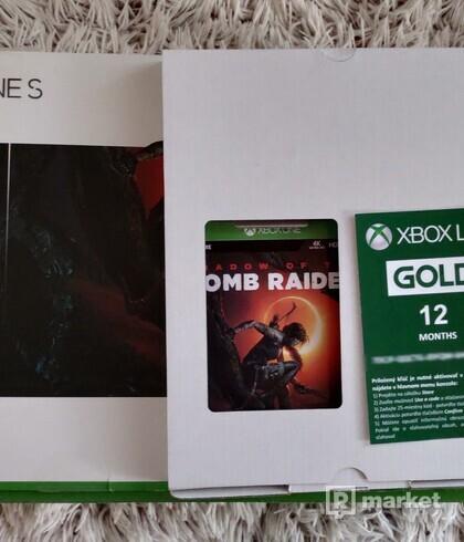 X BOX ONE S 1 TB + Shadow of Tomb Raider + 12 mesiacov XBOX GOLD