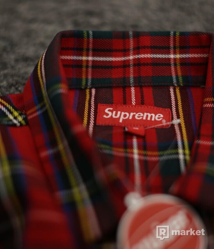 Supreme Tartan Flannel Shirt Red