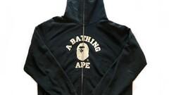 Bape mad face college fullzip hoodie