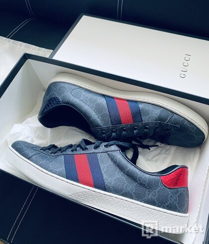 gucci aces new supreme sneaker