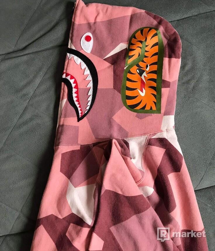 Bape splitner camo shark full zip