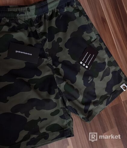 Bape 1St Camo Green shorts
