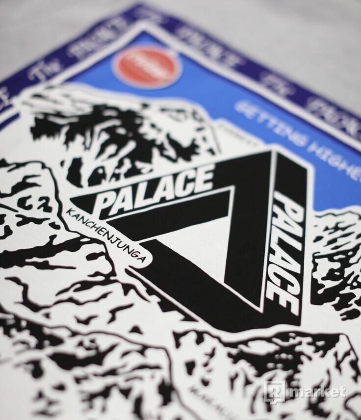 Palace Getting Higher Hoodie Grey