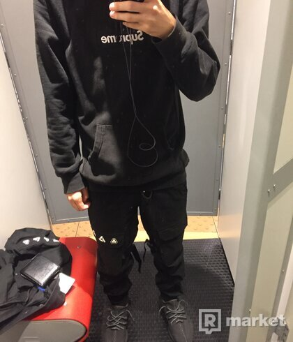 Supreme box logo hoodie Black on Black