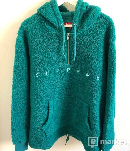 Supreme teal sherpa fleece