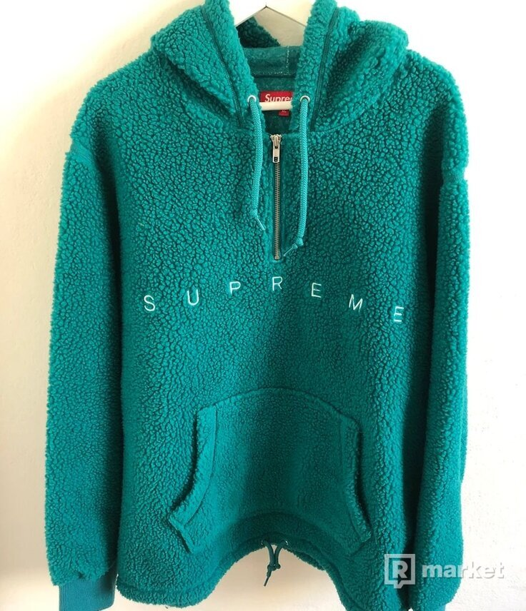 Supreme teal sherpa fleece