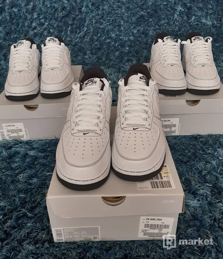 Nike Air Force white black-stitching