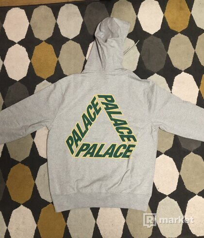 Palace P3 Team Hood Grey Marl