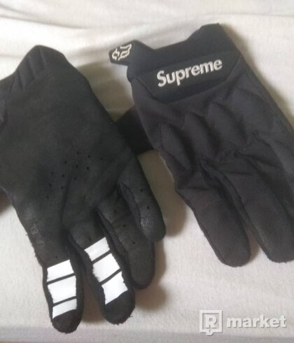 Fox x Supreme gloves, rukavice na kolo