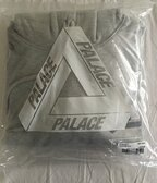 Palace tri-gaine hood grey marl