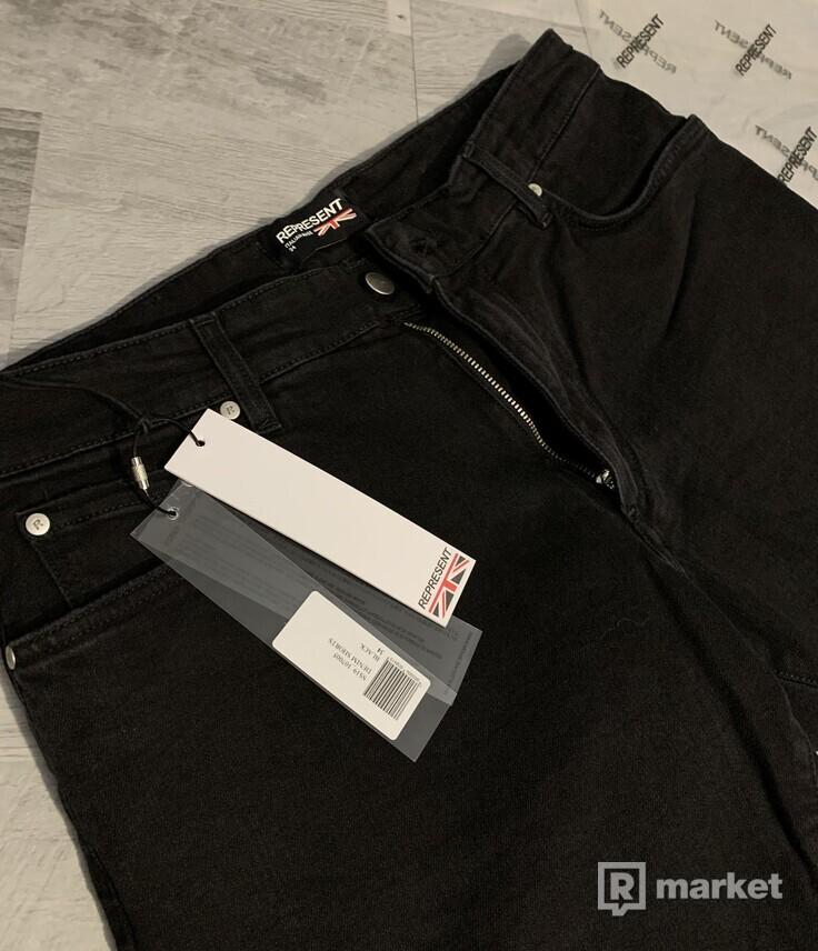 Represent Clothing, Denim Shorts (čierne)