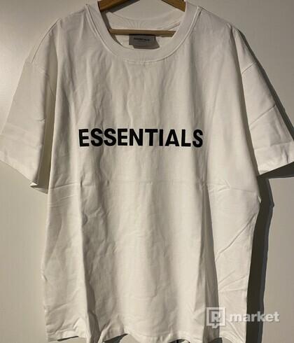 Essentials fear of god tee tričko white